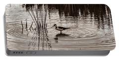 Stilt Wading At Green Cay Wetlands Boynton Beach Florida Portable Battery Charger