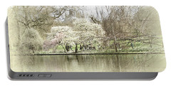 St. James Park London Portable Battery Charger by Judi Saunders