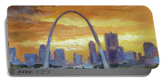 St.louis Arch - Sunset Portable Battery Charger