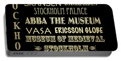 Stockholm Famous Landmarks Portable Battery Charger