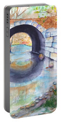 Stone Arch Bridge Dunstable Portable Battery Charger by Carlin Blahnik