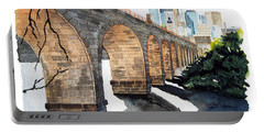 Stone Arch Bridge Watercolor Portable Battery Charger