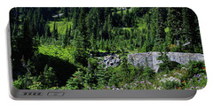 Stone Bridge And Wildflowers Portable Battery Charger