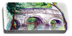 Stone Bridge In Early Autumn Portable Battery Charger by Melinda Dare Benfield