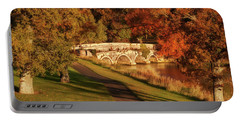 Portable Battery Charger featuring the photograph Stone Bridge On The Rye Water - Kildare, Ireland by Barry O Carroll
