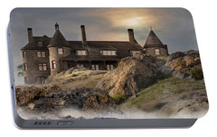 Portable Battery Charger featuring the photograph Stone Castle Newport by Robin-Lee Vieira