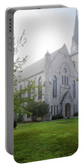 Stone Chapel In Fog Portable Battery Charger