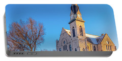 Stone Chapel In Winter Portable Battery Charger