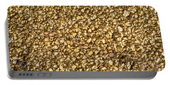 Stone Chip On A Wall Portable Battery Charger by John Williams