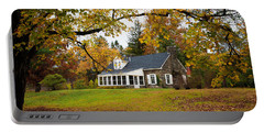 Stone Cottage In The Fall Portable Battery Charger
