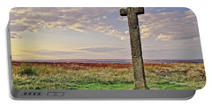 Stone Cross On North York Moors Portable Battery Charger