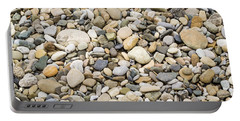 Stone Pebbles Patterns Portable Battery Charger by John Williams