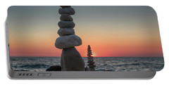 Stone Tower By The Beach Portable Battery Charger
