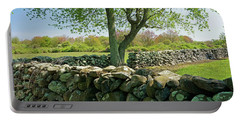 Stone Wall In Rhode Island Portable Battery Charger