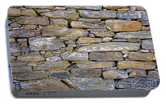 Portable Battery Charger featuring the photograph Stone Wall by Nareeta Martin