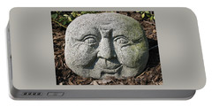 Portable Battery Charger featuring the photograph Stoneface by Charles Kraus