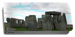 Portable Battery Charger featuring the photograph Stonehenge 2 by Francesca Mackenney