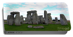Portable Battery Charger featuring the photograph Stonehenge 3 by Francesca Mackenney