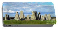 Portable Battery Charger featuring the photograph Stonehenge 6 by Francesca Mackenney