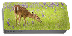 Stop And Smell The Bluebonnets. Portable Battery Charger