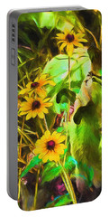Stop And Smell The Flowers Sulley Portable Battery Charger