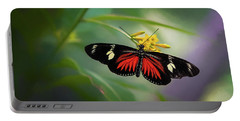 Butterfly, Stop And Smell The Flowers Portable Battery Charger