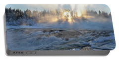 Storforsen, Biggest Waterfall In Sweden Portable Battery Charger