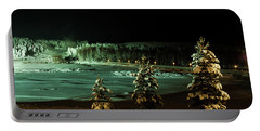 Storforsen In Night Portable Battery Charger