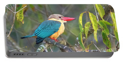 Stork-billed Kingfisher Portable Battery Charger by Pravine Chester