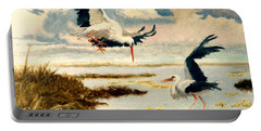 Storks II Portable Battery Charger by Henryk Gorecki