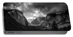 Storm Arrives In The Yosemite Valley Portable Battery Charger