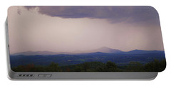 Storm At Lewis Fork Overlook Portable Battery Charger
