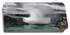 Storm At Niagara Portable Battery Charger
