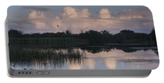 Storm At Sunrise Over The Wetlands Portable Battery Charger