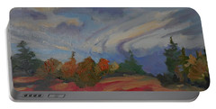 Portable Battery Charger featuring the painting Storm Cell by Francine Frank