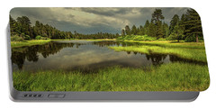 Storm Clouds Over Bluff Lake Portable Battery Charger