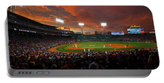 Storm Clouds Over Fenway Park Portable Battery Charger