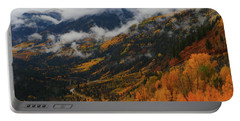 Portable Battery Charger featuring the photograph Storm Clouds Over Mcclure Pass During Autumn by Jetson Nguyen