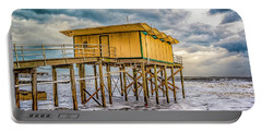 Portable Battery Charger featuring the photograph Storm Clouds Over The Ocean by Nick Zelinsky