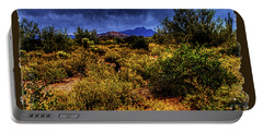 Storm Clouds Over The Sonoran Desert In Spring Portable Battery Charger
