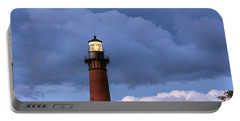 Storm Looms Near Currituck Beach Lighthouse Portable Battery Charger