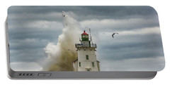 Storm On Lake Erie Portable Battery Charger