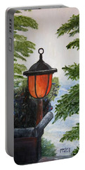 Portable Battery Charger featuring the painting Storm On Lake Of The Woods by Marilyn  McNish
