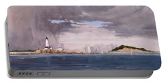 Storm Over Boston Portable Battery Charger
