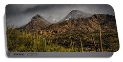 Storm Over Catalinas 15 Portable Battery Charger by Mark Myhaver