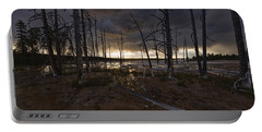 Storm Over Lower Geyser Basin Portable Battery Charger