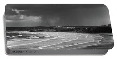 Storm  Over The Bay Portable Battery Charger by Nicholas Burningham