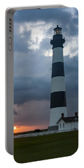 Storm Passes Bodie Island Lighthouse Portable Battery Charger