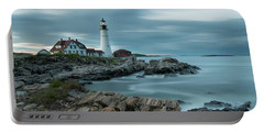 Storm Passing At Portland Head Light Portable Battery Charger