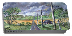 Portable Battery Charger featuring the painting  Storm by Randol Burns